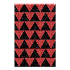 Triangle2 Black Marble & Red Denim Shower Curtain 48  X 72  (small)  by trendistuff
