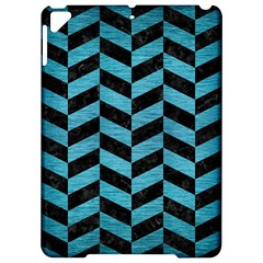 Chevron1 Black Marble & Teal Brushed Metal Apple Ipad Pro 9 7   Hardshell Case by trendistuff