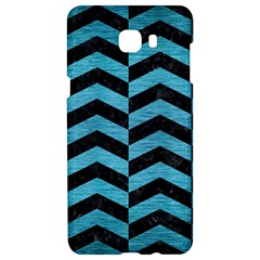 Chevron2 Black Marble & Teal Brushed Metal Samsung C9 Pro Hardshell Case  by trendistuff