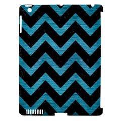 Chevron9 Black Marble & Teal Brushed Metal (r) Apple Ipad 3/4 Hardshell Case (compatible With Smart Cover) by trendistuff