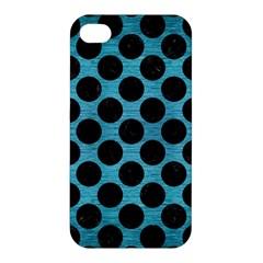 Circles2 Black Marble & Teal Brushed Metal Apple Iphone 4/4s Hardshell Case by trendistuff