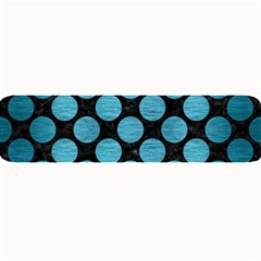 Circles2 Black Marble & Teal Brushed Metal (r) Large Bar Mats by trendistuff