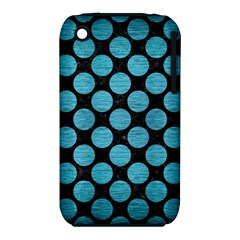 Circles2 Black Marble & Teal Brushed Metal (r) Iphone 3s/3gs by trendistuff