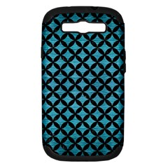Circles3 Black Marble & Teal Brushed Metal Samsung Galaxy S Iii Hardshell Case (pc+silicone) by trendistuff