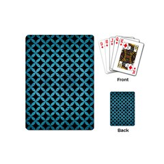 Circles3 Black Marble & Teal Brushed Metal (r) Playing Cards (mini)  by trendistuff