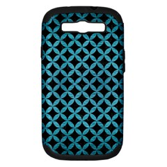 Circles3 Black Marble & Teal Brushed Metal (r) Samsung Galaxy S Iii Hardshell Case (pc+silicone) by trendistuff