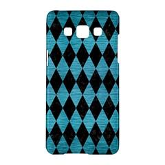 Diamond1 Black Marble & Teal Brushed Metal Samsung Galaxy A5 Hardshell Case  by trendistuff