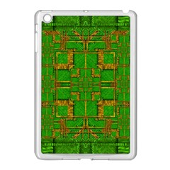 Golden Green And  Sunshine Pop Art Apple Ipad Mini Case (white) by pepitasart