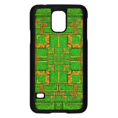 Golden Green And  Sunshine Pop Art Samsung Galaxy S5 Case (black) by pepitasart
