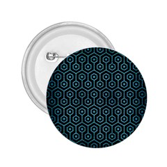 Hexagon1 Black Marble & Teal Brushed Metal (r) 2 25  Buttons by trendistuff