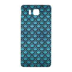 Scales2 Black Marble & Teal Brushed Metal Samsung Galaxy Alpha Hardshell Back Case by trendistuff