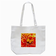 Arrangement Butterfly Aesthetics Orange Background Tote Bag (white) by Celenk