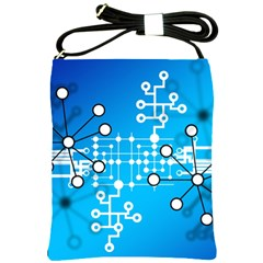 Block Chain Data Records Concept Shoulder Sling Bags by Celenk