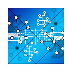 Block Chain Data Records Concept Acrylic Tangram Puzzle (6  X 6 ) by Celenk