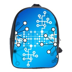 Block Chain Data Records Concept School Bag (xl) by Celenk