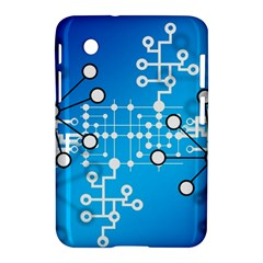 Block Chain Data Records Concept Samsung Galaxy Tab 2 (7 ) P3100 Hardshell Case  by Celenk
