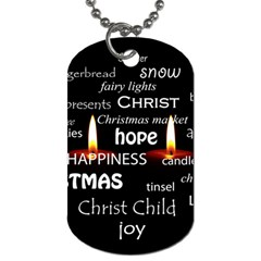 Candles Christmas Advent Light Dog Tag (two Sides) by Celenk