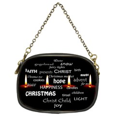 Candles Christmas Advent Light Chain Purses (two Sides)  by Celenk
