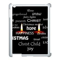 Candles Christmas Advent Light Apple Ipad 3/4 Case (white)