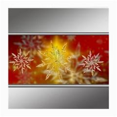 Christmas Candles Christmas Card Medium Glasses Cloth by Celenk