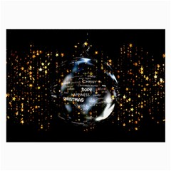Christmas Star Ball Large Glasses Cloth (2 Side) by Celenk