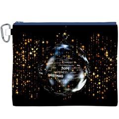 Christmas Star Ball Canvas Cosmetic Bag (xxxl) by Celenk
