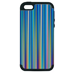 Colorful Color Arrangement Apple Iphone 5 Hardshell Case (pc+silicone)