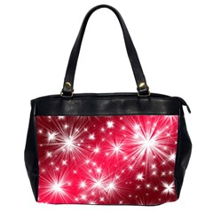 Christmas Star Advent Background Office Handbags (2 Sides)  by Celenk