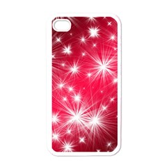Christmas Star Advent Background Apple Iphone 4 Case (white) by Celenk