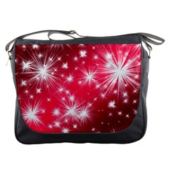 Christmas Star Advent Background Messenger Bags by Celenk