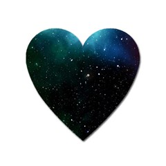 Galaxy Space Universe Astronautics Heart Magnet by Celenk