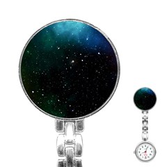 Galaxy Space Universe Astronautics Stainless Steel Nurses Watch by Celenk