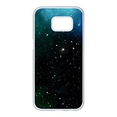 Galaxy Space Universe Astronautics Samsung Galaxy S7 Edge White Seamless Case