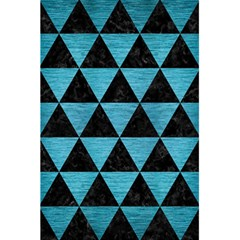 Triangle3 Black Marble & Teal Brushed Metal 5 5  X 8 5  Notebooks by trendistuff