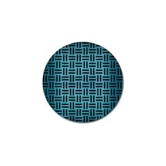 Woven1 Black Marble & Teal Brushed Metal Golf Ball Marker (4 Pack) by trendistuff