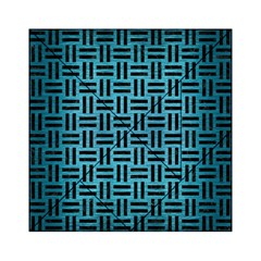 Woven1 Black Marble & Teal Brushed Metal Acrylic Tangram Puzzle (6  X 6 ) by trendistuff