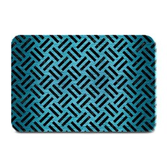 Woven2 Black Marble & Teal Brushed Metal Plate Mats by trendistuff