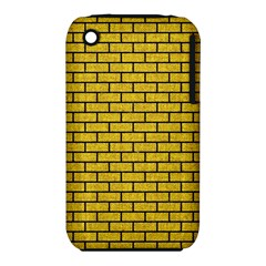 Brick1 Black Marble & Yellow Denim Iphone 3s/3gs by trendistuff