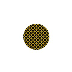 Circles3 Black Marble & Yellow Denim 1  Mini Buttons by trendistuff