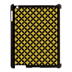 Circles3 Black Marble & Yellow Denim Apple Ipad 3/4 Case (black) by trendistuff