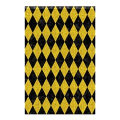 Diamond1 Black Marble & Yellow Denim Shower Curtain 48  X 72  (small)  by trendistuff