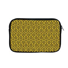 Hexagon1 Black Marble & Yellow Denim Apple Macbook Pro 13  Zipper Case by trendistuff