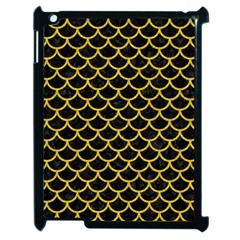 Scales1 Black Marble & Yellow Denim (r) Apple Ipad 2 Case (black) by trendistuff