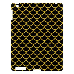 Scales1 Black Marble & Yellow Denim (r) Apple Ipad 3/4 Hardshell Case by trendistuff