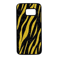 Skin3 Black Marble & Yellow Denim (r) Samsung Galaxy S7 Black Seamless Case by trendistuff