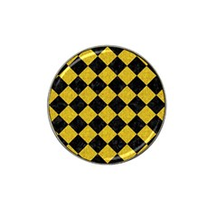 Square2 Black Marble & Yellow Denim Hat Clip Ball Marker (10 Pack) by trendistuff
