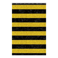 Stripes2 Black Marble & Yellow Denim Shower Curtain 48  X 72  (small)  by trendistuff