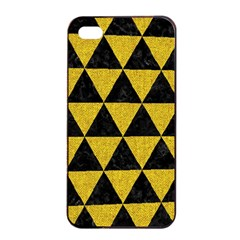 Triangle3 Black Marble & Yellow Denim Apple Iphone 4/4s Seamless Case (black) by trendistuff
