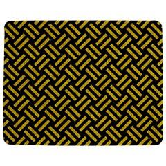 Woven2 Black Marble & Yellow Denim (r) Jigsaw Puzzle Photo Stand (rectangular) by trendistuff
