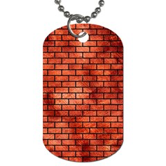 Brick1 Black Marble & Copper Paint Dog Tag (one Side) by trendistuff